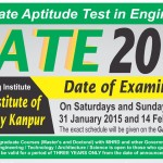 GATE 2015 Exam Notification for M.Tech Admission and Jobs in Public Sector Undertakings