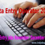 Data Entry Operator, Data Entry Jobs November-December 2014