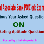 SBI And SBI Associate PO Clerk Exams 2014, Previous Year Asked Marketing Aptitude Questions