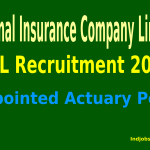 National Insurance Company Limited Recruitment 2015 For Appointed Actuary Post.