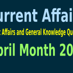 Month Wise Current Affairs and General Knowledge Questions, April Month 2015