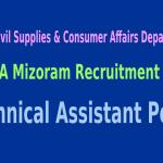 FCSCA Mizoram Recruitment 2015 For 134 Technical Assistant Posts