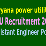 Haryana power utilities (HPU) Recruitment 2015 For 317 Assistant Engineer Posts