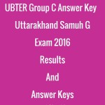 UBTER Group C Answer Key- Uttarakhand Samuh G Exam 2016 Results And Answer Keys.jpg