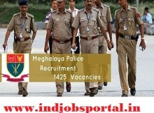 Meghalaya Police Recruitment 2016 For 1425 SI & Constables Posts