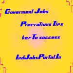 government job key to success indjobsportal.in