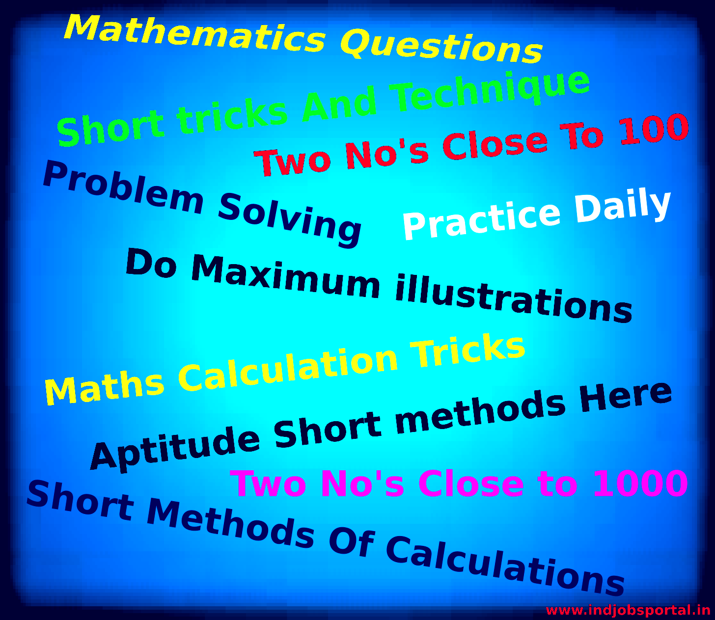 Maths short tricks Infographics - Indjobsportal.In