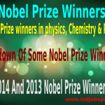 Rundown Of Some Nobel Prize Winners of year 2014