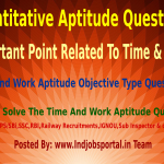 Some Important Point related to Time & Work Aptitude Questions