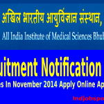 AIIMS Recruitments 2014