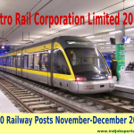 Metro Rail Corporation Limited 1000 Posts November-December 2014