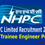 NHPC Limited Recruitment 2015 For 87 Trainee Engineer Post