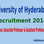University of Hyderabad Recruitment 2014 For 42 Professor, Associate Professor & Assistant Professor Posts