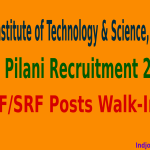 BITS Pilani Recruitment 2015 For JRF/SRF Posts Walk-In