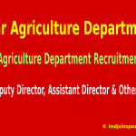 Bihar Agriculture Department Recruitment 2015 For 397 Deputy Director, Assistant Director & Other Posts