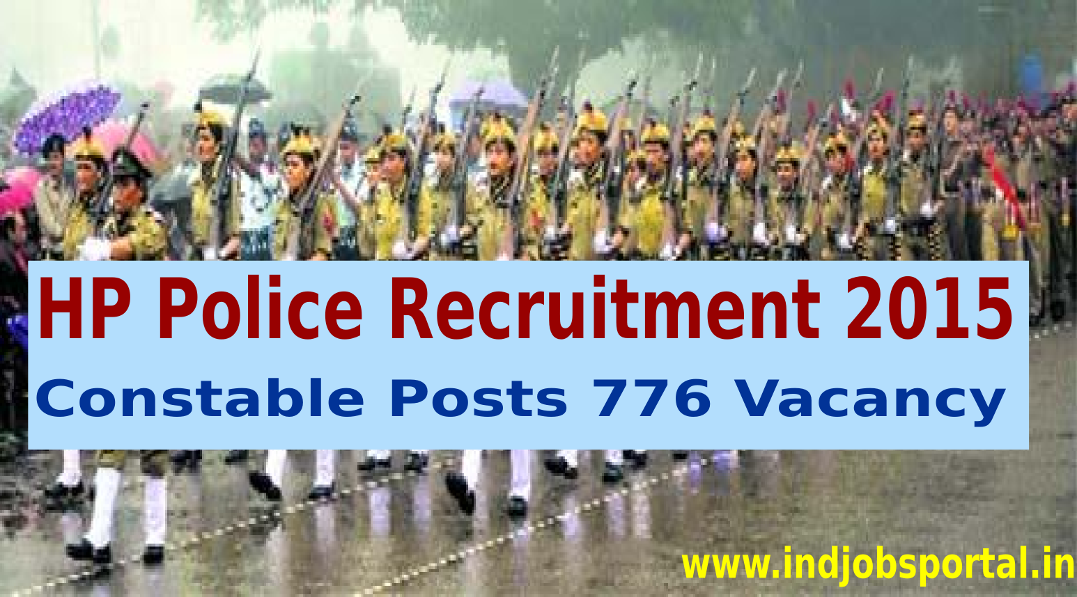 HP Police Recruitment 2015 Online Application For 776 Constable Posts