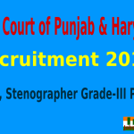 High Court of Punjab & Haryana Recruitment 2015 For 581 Clerk, Stenographer Grade-III Posts