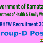 KARHFW Recruitment 2015 Online Application For 1582 Group-D Post