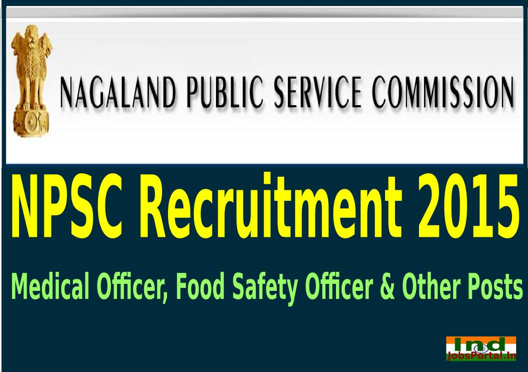 NPSC Recruitment 2015 For 131 Medical Officer, Food Safety Officer & Other Posts