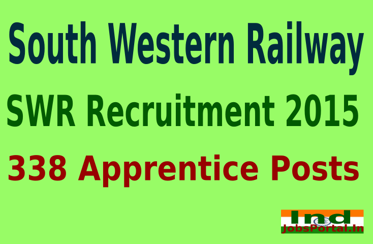 South Western Railway (SWR) Recruitment 2015 Online Application for 338 Apprentice Posts