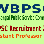 WBPSC Recruitment 2015 Online Application For 411 Assistant Professor Post