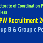DCPW Recruitment 2015 For 143 Group B & Group c Posts