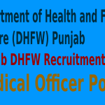 Punjab DHFW Recruitment 2015 For 290 Medical Officer Posts