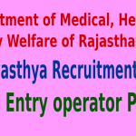 Rajswasthya Recruitment 2015 For 240 Data Entry operator Posts