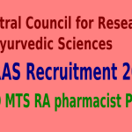CCRAS Recruitment 2015 For 364 DEO MTS RA pharmacist Posts