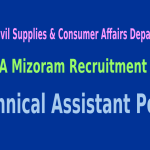 FCSCA Mizoram Recruitment 2015 For 134 Technical Assistant Posts