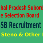 HPSSSB Recruitment 2015 For 494 JE JA Steno & Other Posts