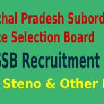 HPSSSB Recruitment 2015 For 494 JE JA Steno & Other Posts