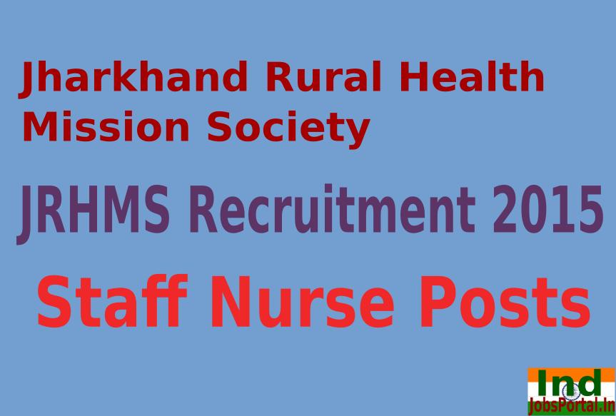 JRHMS Recruitment 2015 For 2139 Staff Nurse Posts