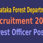 Karnataka Forest Department Recruitment 2015 For 125 Forest Officer Posts