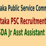 Karnataka PSC Recruitment 2015 For 2484 FDA SDA Jr Asst Assistant Posts