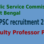 WBPSC Recruitment 2015 For 108 Faculty Professor Posts