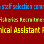 OSSC Fisheries Recruitment 2015 For 121 Technical Assistant Posts