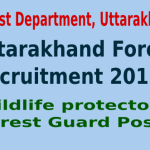 Uttarakhand Forest Recruitment 2015 For 1194 Wildlife protector Forest Guard Posts